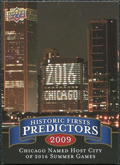 2009 Upper Deck Historic Predictors #HP9 Chicago Awarded 2016 Summer Games