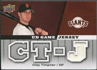 2009 Upper Deck UD Game Jersey #GJCT Clay Timpner