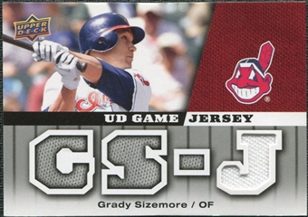 2009 Upper Deck UD Game Jersey #GJGS Grady Sizemore