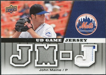 2009 Upper Deck UD Game Jersey #GJJM John Maine