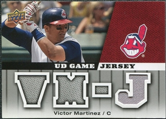 2009 Upper Deck UD Game Jersey #GJVM Victor Martinez