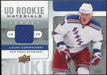 2008/09 Upper Deck Rookie Materials #RMLK Lauri Korpikoski