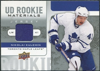 2008/09 Upper Deck Rookie Materials #RMNK Nikolai Kulemin