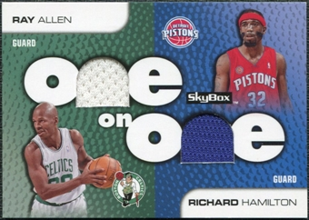 2008/09 SkyBox One on One Dual Memorabilia #OOAH Richard Hamilton Ray Allen