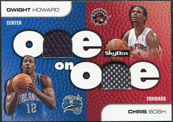 2008/09 SkyBox One on One Dual Memorabilia #OOHB Chris Bosh Dwight Howard