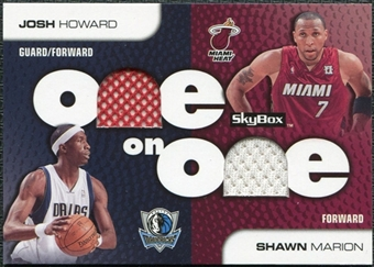 2008/09 SkyBox One on One Dual Memorabilia #OOMH Shawn Marion Josh Howard