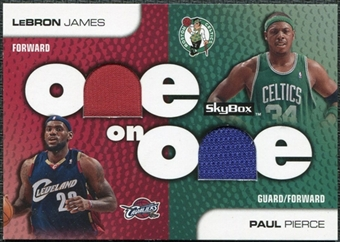 2008/09 SkyBox One on One Dual Memorabilia #OOPJ Paul Pierce LeBron James