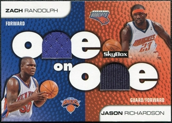 2008/09 SkyBox One on One Dual Memorabilia #OORR Jason Richardson Zach Randolph