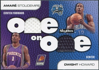 2008/09 SkyBox One on One Dual Memorabilia #OOSH Dwight Howard Amare Stoudemire