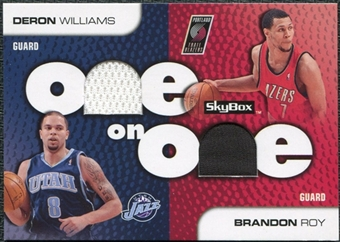 2008/09 SkyBox One on One Dual Memorabilia #OOWR Brandon Roy Deron Williams