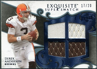 2008 Upper Deck Exquisite Collection Super Swatch Blue #SSAN Derek Anderson /20