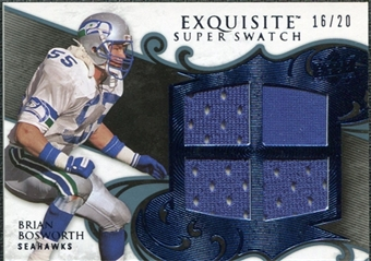 2008 Upper Deck Exquisite Collection Super Swatch Blue #SSBO Brian Bosworth /20
