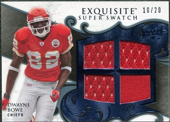 2008 Upper Deck Exquisite Collection Super Swatch Blue #SSDB Dwayne Bowe /20