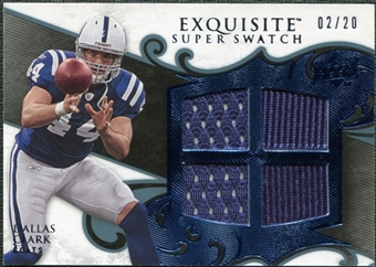2008 Upper Deck Exquisite Collection Super Swatch Blue #SSDC Dallas Clark /20