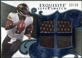 2008 Upper Deck Exquisite Collection Super Swatch Blue #SSDG David Garrard /20
