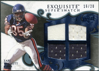 2008 Upper Deck Exquisite Collection Super Swatch Blue #SSEB Earl Bennett /20