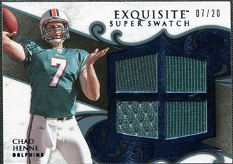 2008 Upper Deck Exquisite Collection Super Swatch Blue #SSHE Chad Henne /20