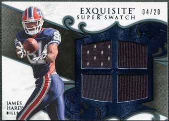 2008 Upper Deck Exquisite Collection Super Swatch Blue #SSJH James Hardy /20