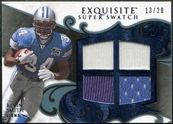 2008 Upper Deck Exquisite Collection Super Swatch Blue #SSKS Kevin Smith /20