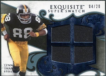 2008 Upper Deck Exquisite Collection Super Swatch Blue #SSLS Lynn Swann 4/20