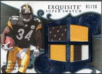 2008 Upper Deck Exquisite Collection Super Swatch Blue #SSME Rashard Mendenhall /20
