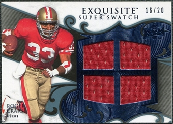 2008 Upper Deck Exquisite Collection Super Swatch Blue #SSRC Roger Craig 16/20