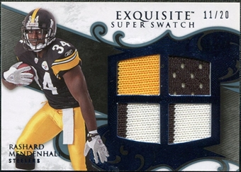 2008 Upper Deck Exquisite Collection Super Swatch Blue #SSRM Rashard Mendenhall /20