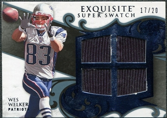 2008 Upper Deck Exquisite Collection Super Swatch Blue #SSWW Wes Welker /20