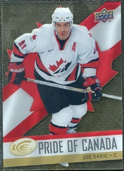 2008/09 Upper Deck Ice Pride of Canada #GOLD10 Joe Sakic