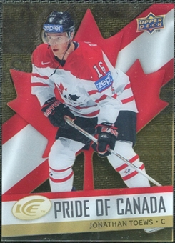 2008/09 Upper Deck Ice Pride of Canada #GOLD11 Jonathan Toews