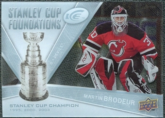 2008/09 Upper Deck Ice Stanley Cup Foundations #SCFMB Martin Brodeur