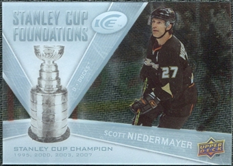 2008/09 Upper Deck Ice Stanley Cup Foundations #SCFSN Scott Niedermayer