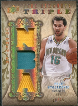 2008/09 Upper Deck Premier Rare Remnants Triple Patch NBA Logo #RR3PS Peja Stojakovic /25