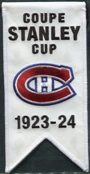 2008/09 Upper Deck Montreal Canadiens Mini Banners 1923-24 Stanley Cup