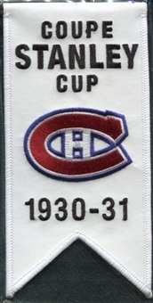 2008/09 Upper Deck Montreal Canadiens Mini Banners 1930-31 Stanley Cup