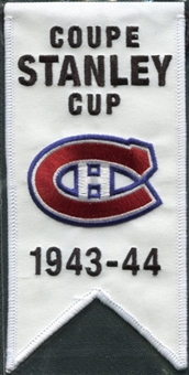 2008/09 Upper Deck Montreal Canadiens Mini Banners 1943-44 Stanley Cup