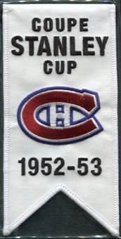 2008/09 Upper Deck Montreal Canadiens Mini Banners 1952-53 Stanley Cup