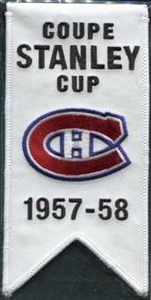 2008/09 Upper Deck Montreal Canadiens Mini Banners 1957-58 Stanley Cup