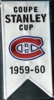 2008/09 Upper Deck Montreal Canadiens Mini Banners 1959-60 Stanley Cup