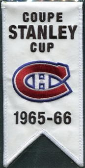 2008/09 Upper Deck Montreal Canadiens Mini Banners 1965-66 Stanley Cup