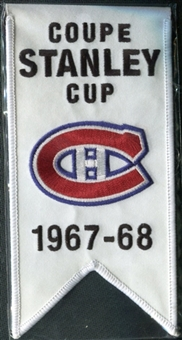 2008/09 Upper Deck Montreal Canadiens Mini Banners 1967-68 Stanley Cup