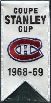2008/09 Upper Deck Montreal Canadiens Mini Banners 1968-69 Stanley Cup