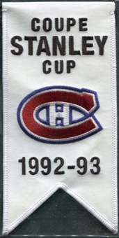 2008/09 Upper Deck Montreal Canadiens Mini Banners 1992-93 Stanley Cup