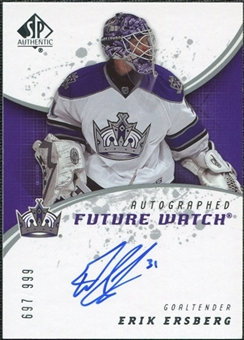 2008/09 Upper Deck SP Authentic #210 Erik Ersberg RC Autograph /999