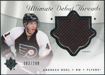 2008/09 Upper Deck Ultimate Collection Debut Threads #DTAN Andreas Nodl /200