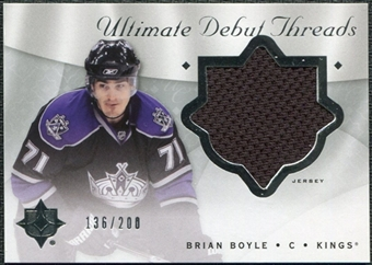 2008/09 Upper Deck Ultimate Collection Debut Threads #DTBB Brian Boyle /200