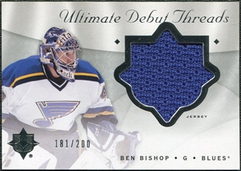 2008/09 Upper Deck Ultimate Collection Debut Threads #DTBP Ben Bishop /200