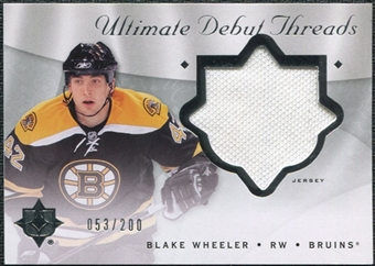 2008/09 Upper Deck Ultimate Collection Debut Threads #DTBW Blake Wheeler /200