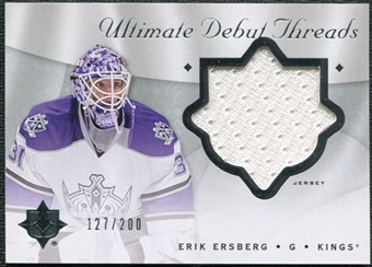 2008/09 Upper Deck Ultimate Collection Debut Threads #DTEE Erik Ersberg /200