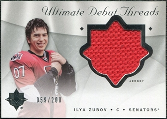 2008/09 Upper Deck Ultimate Collection Debut Threads #DTIZ Ilya Zubov /200